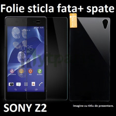 FOLIE de sticla FATA+SPATE Sony XPERIA Z2 0.33mm, 2.5D, 9H tempered glass antisoc - Folie de protectie Sony, Anti zgariere