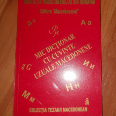 MIC DICTIONAR DE CUVINTE UZUALE MACEDONENE - Ghid de conversatie Altele