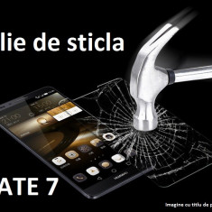 FOLIE de STICLA securizata Huawei MATE 7, 0.33mm, 2.5D, 9H tempered glass antisoc - Folie de protectie Huawei, Anti zgariere