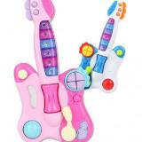 SET CHITARA ELECTRICA PENTRU COPIII SI 2 MICROFOANE PENTRU KARAOKE INCLUSE. - Instrumente muzicale copii