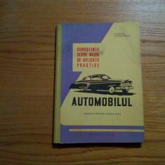 AUTOMOBILUL * Manual cl. a X -a -- V. Husea, T. Pavelescu - 1962, 129 p.