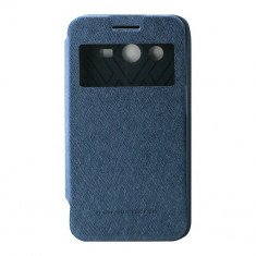 Toc My-Wow Samsung Galaxy Core2 G355 Albastru - Husa Telefon Atlas, Piele Ecologica