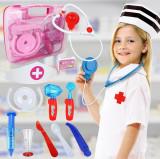 SET 14 PIESE TRUSA LUI DOCTORITA PLUSICA+GEANTA DOCTOR,USTENSILE FUNCTIONALE .