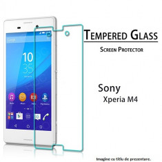 FOLIE de sticla Sony XPERIA M4 0.33mm, 2.5D, 9H tempered glass securizata antisoc - Folie de protectie Sony, Anti zgariere