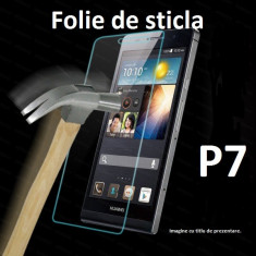 FOLIE STICLA securizata Huawei Ascend P7, 0.33mm, 2.5D, 9H tempered glass antisoc - Folie de protectie Huawei, Anti zgariere