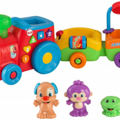 Trenulet interactiv cu figurine, Fisher Price