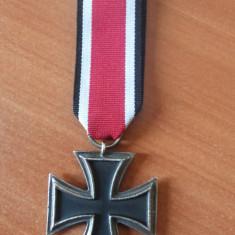 Crucea de fier ww2 clasa 2, svastica, Eisernes kreuz 2 klasse 1939 cu ribon - Ordin