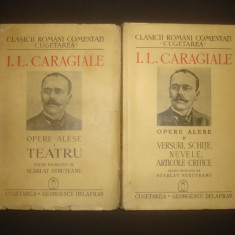 ION LUCA CARAGIALE - OPERE ALESE 2 volume {1940} - Carte veche