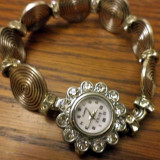 Ceas argintiu cu strasuri - Ceas dama, Quartz, Analog