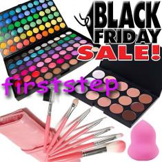 BLACK FRIDAY Trusa machiaj Mac Cosmetics MAC 120 culori 7 pensule Fond de ten corector burete