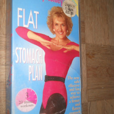 FLAT STOMACH PLAN - ROSEMARY CONLEY'S ( AEROBIC ) - CASETA VIDEO VHS - Program Exercitii fizice, Engleza