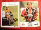 2 Foto-Ilustrate ,autograf -Fotbalisti Germani -Bayern Munchen si Eintracht