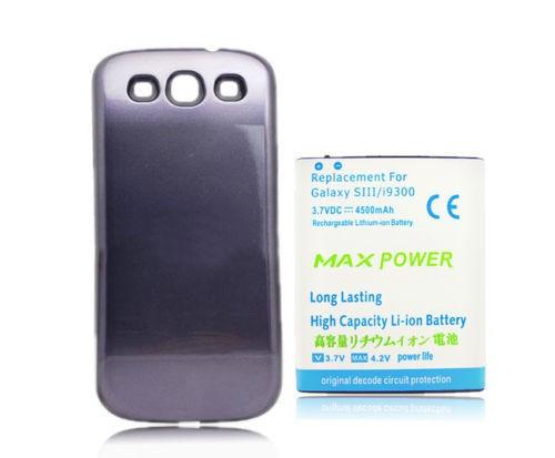 Baterie extinsa 4500mAh capac albastru Samsung Galaxy S3 i9300  neo