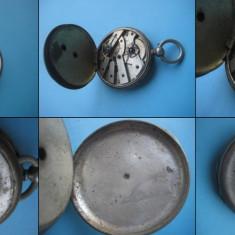 CEASURI BUZUNAR VECHI-VINTAGE. Ceas buzunar barbat perioada cca 1850 chei spate - Ceas de buzunar vechi