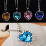 Pandantiv / Colier / Lantisor - Fashion Crystal, Forma Unei Inimi - Champagne - Pandantiv fashion