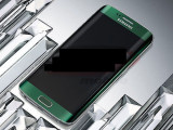LCD+Touchscreen cu Rama Samsung Galaxy S6 Edge/SM-G925 verde original