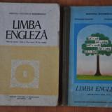 Lot 2 Manuale scolare vechi de Limba Engleza, Manual clasa a II-a, 1993 - Carte in engleza