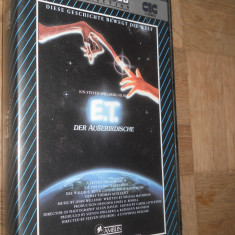 E.T.-THE EXTRATERESTRIAL ( 1982 ) - FILM DE COLECTIE CASETA VIDEO VHS - Film Colectie, Altele