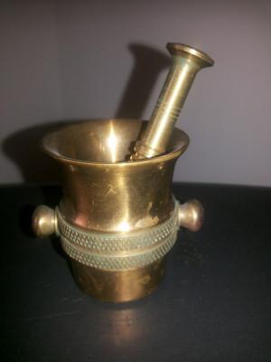 Mojar,miniatural,vechi,german din bronz foto