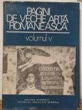 PAGINI DE VECHE ARTA ROMANEASCA .VOLUMUL 5