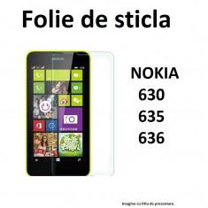 FOLIE sticla NOKIA 635 630, 0.33mm, 2.5D, 9H tempered glass securizata - Folie de protectie Nokia, Anti zgariere