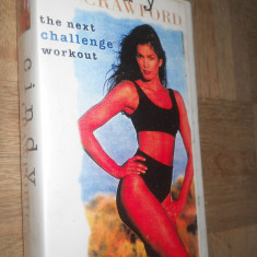 THE NEXT CHALLENGE WORKOUT - CINDY CRAWFORD ( AEROBIC ) - CASETA VIDEO VHS - Program Exercitii fizice, Engleza