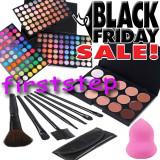 BLACK FRIDAY Trusa machiaj MAC 180 culori 7 pensule Fond de ten corector  burete, Mac Cosmetics