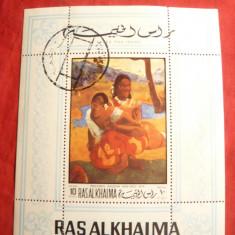 Colita - Pictura Gaugain - Ras Al Khaima - Timbre straine, Stampilat