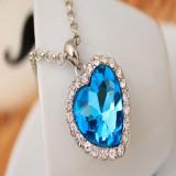 Pandantiv / Colier / Lantisor - Fashion Crystal, Forma Unei Inimi - Albastru - Pandantiv fashion
