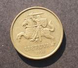 LITUANIA 50 CENTU 1998 CAVALER, Europa
