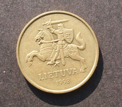 LITUANIA 50 CENTU 1998 CAVALER foto