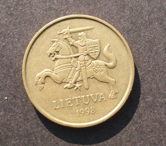 LITUANIA 50 CENTU 1998 CAVALER