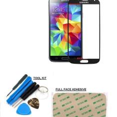 Sticla display fata pentru Samsung Galaxy S4 negru + kit scule si folie adeziv - Display LCD