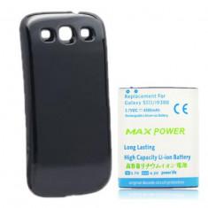 Baterie extinsa 4500mAh capac negru pt Samsung Galaxy S3 i9300 s3 neo, Li-ion