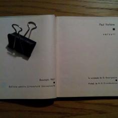 PAUL VERLAINE - Versuri - traducere: G. Georgescu - 1967, 116 p.