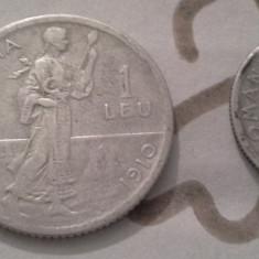 1 LEU 1910 ARGINT /2+CADOU 50 BANI 1910 MODEST - Moneda Romania