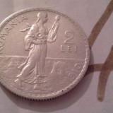 2 LEI 1910 ARGINT/4 FRUMOASA - Moneda Romania