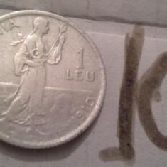 1 LEU 1910 ARGINT /10 - Moneda Romania