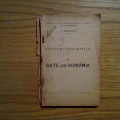 SATE DIN ROMANIA - I. Simionescu - Lecturi Geografice, 1926, 138 p. - Carte de calatorie