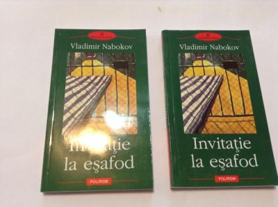 Vladimir Nabokov - Invitatie la esafod ,RF9/3 foto
