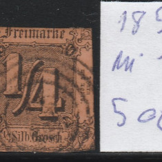 Thurn and Taxis - State Germane 1852, Mi nr 1 - stampilat, Germania