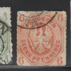 Prusia - State Germane 1861, Mi nr 14, 15 - stampilat, Germania