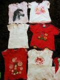 Set 6 tricouri pt fetite, de joaca, de casa, 5-7 ani, COMANDA MINIMA 30 LEI!
