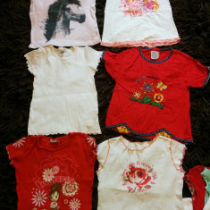 Set 6 tricouri pt fetite, de joaca, de casa, 5-7 ani, COMANDA MINIMA 30 LEI!, Culoare: Din imagine, Fete