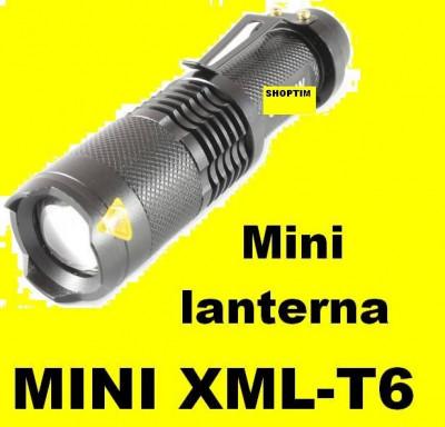 Lanterna LED CREE XML T6 ZOOM 10000W LUPA 5 Faze acumulator 3,7 V inc auto si ap foto