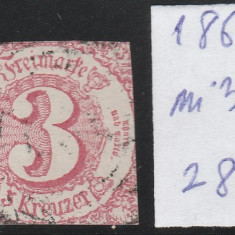 Thurn and Taxis - State Germane 1864, Mi nr 32 - stampilat, Germania