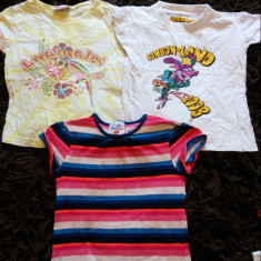 Set de 3 tricouri fetite, de joaca, de casa, SUPER OFERTA, 3-5 ani, Culoare: Din imagine, Fete