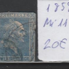 Prusia - State Germane 1858, Mi nr 11 - stampilat, Germania