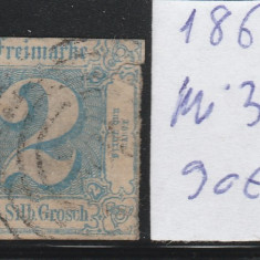 Thurn and Taxis - State Germane 1862, Mi nr 30 - stampilat, Germania