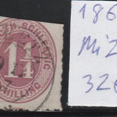 Schleswig - State Germane 1865, Mi nr 22 - stampilat, Germania, An: 1863